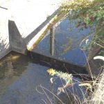 農業用排水路側の落差