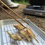 入鹿池産獲れたてブルーギルの唐揚げです。