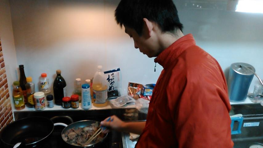 ジビエ イノシシ肉 調理中